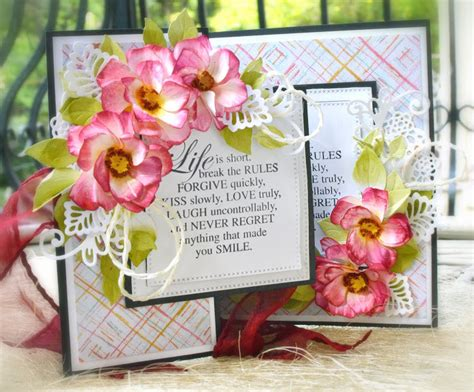 how to make cards that look real cottageblog 3d flowers with cottagecutz