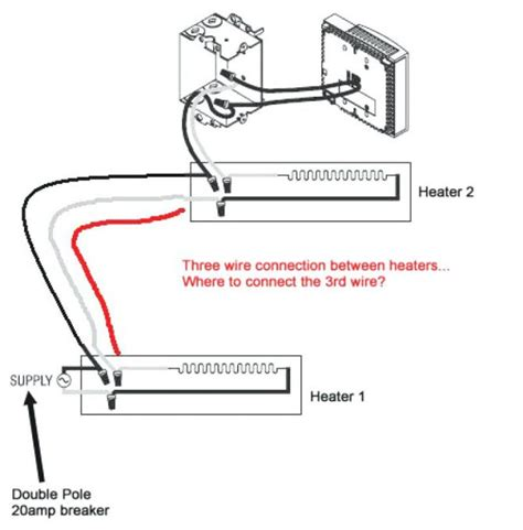 bryant baseboard heater wiring diagram 240v thermostat
