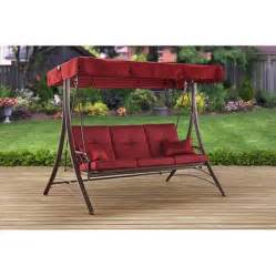 walmart patio swing mainstays callimont park 3 seat daybed swing