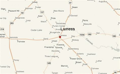 dawson county texas map lamesa location guide