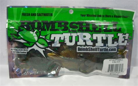 Ujs Turtle Fishing Lure New package 6 castalia 3 quot bombshell turtles soft plastic lure