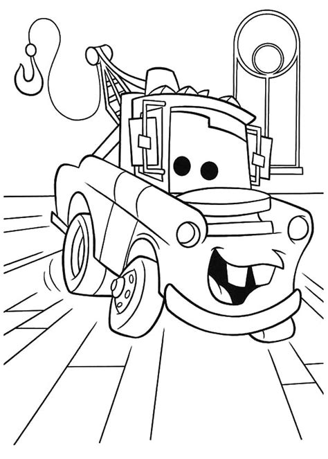 cars characters coloring pages how to draw tow mater coloring pages how to draw tow