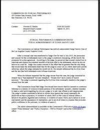 Admonished Criminal Record L A County Judge Admonished For Ku Klux Klan Remark In Involving