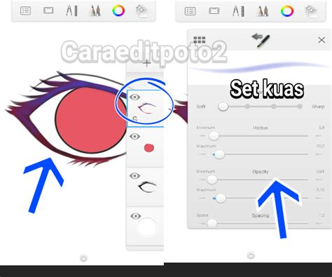 cara membuat warna bola mata menjadi coklat belajar membuat mata anime di sketchbook android