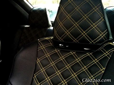 quilted leather seats quilted type clazzio leather seat covers