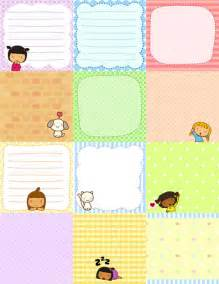 free printable cute pigtails notes free download cute