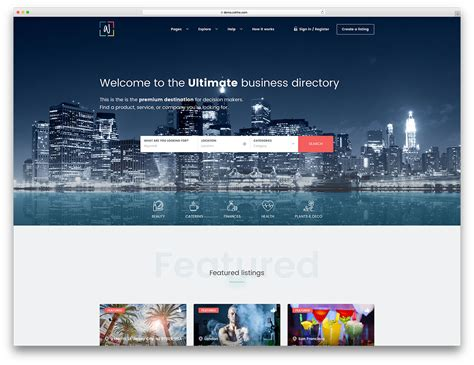 business directory layout design 20 best directory wordpress themes 2018 colorlib