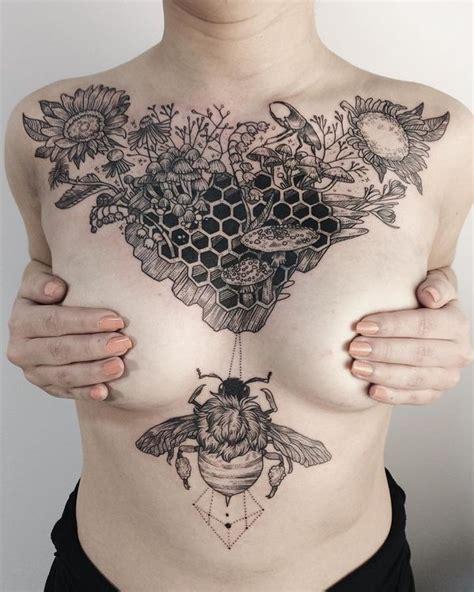 between the breast tattoo sternum between the breast design ideas