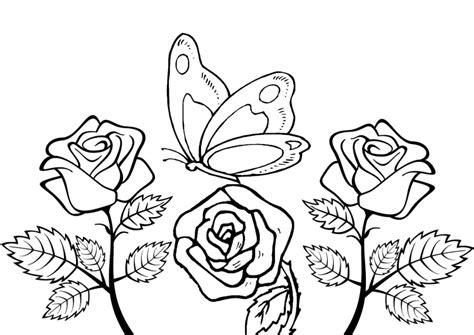 disegni da colorare fiori e farfalle fiori da colorare disegni da stare a tema fiori per
