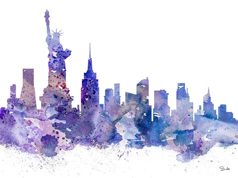 watercolor tattoo york pa 18 watercolor berlin new york skyline