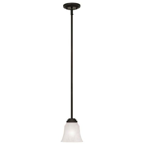 Westinghouse Pendant Lights Westinghouse Wensley 1 Light Rubbed Bronze Pendant 6220100 The Home Depot