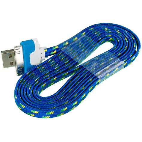 iphone f cable 2x noodle rope braided usb sync data cable cord 6ft for iphone 4 4s ipod touch ebay