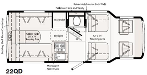 rialta floor plans winnebago rialta 22qd rvs for sale in california