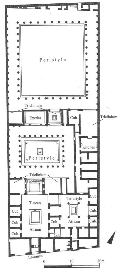 layout of the house of the faun the house of the faun plan house plans