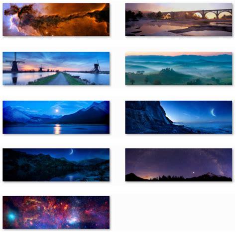 themes for windows 7 dual monitor desktop fun dual monitor nightfall and starlight