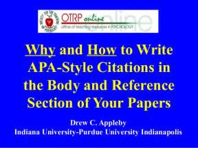 why how to write apa style citations references ppt