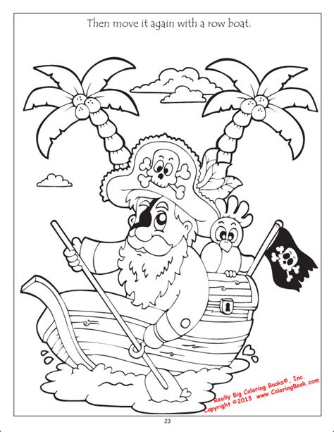 coloring books pirates treasure bandits coloring book