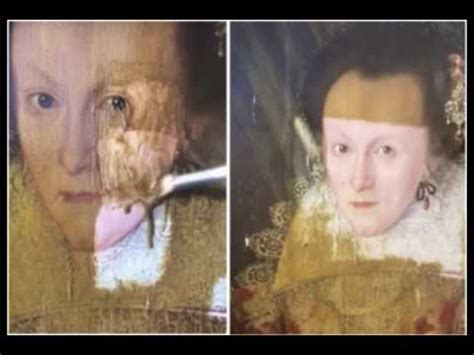 art expert removes 200 year old yellowing varnish from a