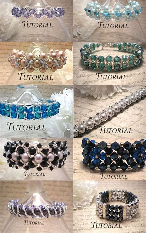 diy beaded jewelry tutorials diy 12 bracelet tutorial bundle right angle weave beaded