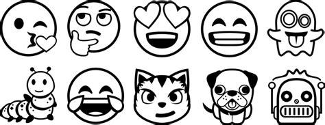 zum ausmalen emoji malvorlage 10 emojis zum ausmalen als vorlage