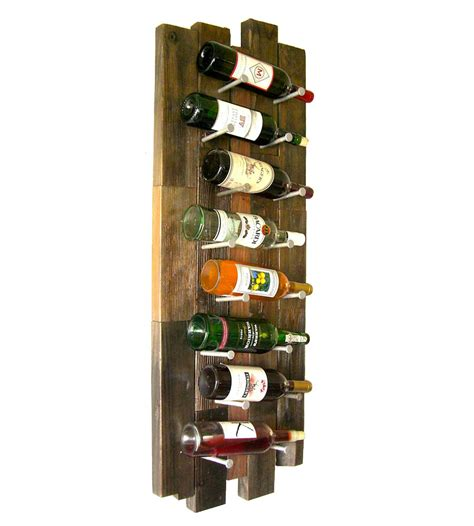 Recycled Wood Wine Rack by Reclaimed Wood 8 Bottle Wine Rack Features Reclaimed