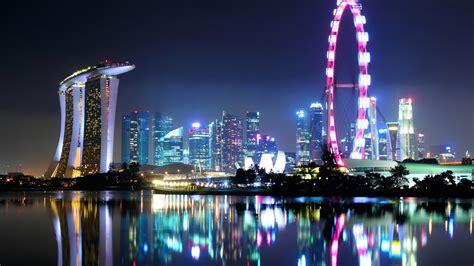 wallpaper 4k city singapore city skyline at night 4k ultra hd wallpaper 4k
