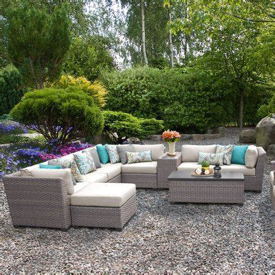 sol  outdoor merlyn  piece sectional seating group