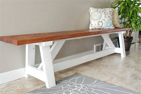 hallway bench plans 15 diy entryway bench projects decorating your small space