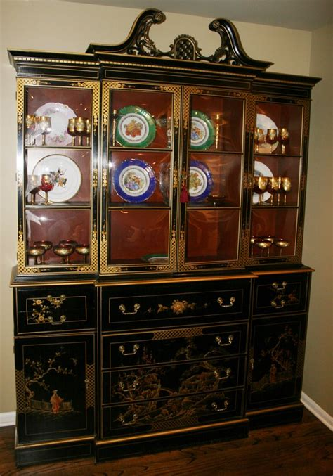 Union National Furniture by 020003 Union Nat Inc Chinoiserie Bookcase Lot 20003