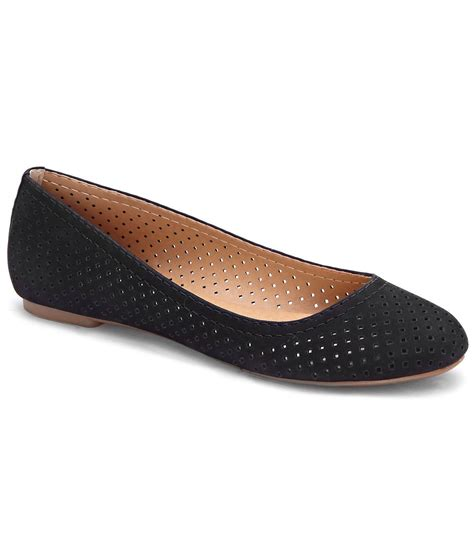lucky shoes flats lucky brand everlee perforated nubuck leather slip on