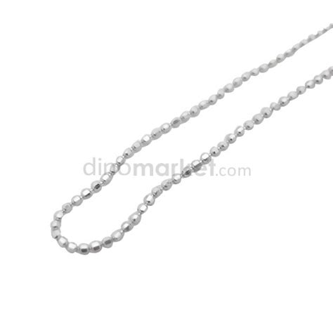 Kalung Pesta Hitam Putih Silver d kalung silver lapis emas putih kll00044 40 dinomarket belanja bebas resiko