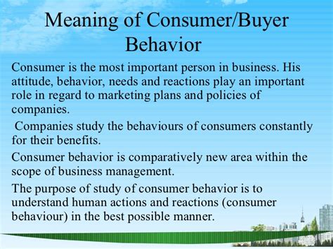 Definition Of Mba In by Consumer Behaviour2 Ppt Bec Doms 2009 Bagalkot Mba