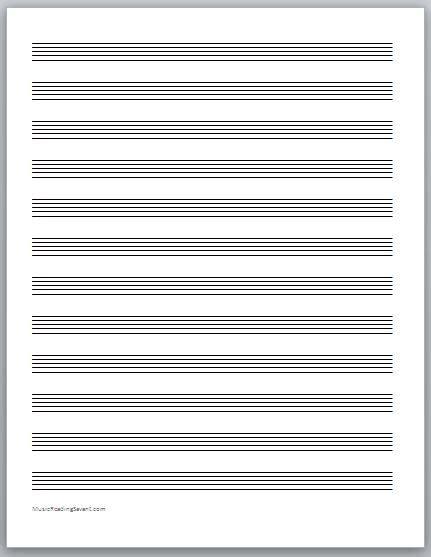 music staff paper clip art 50