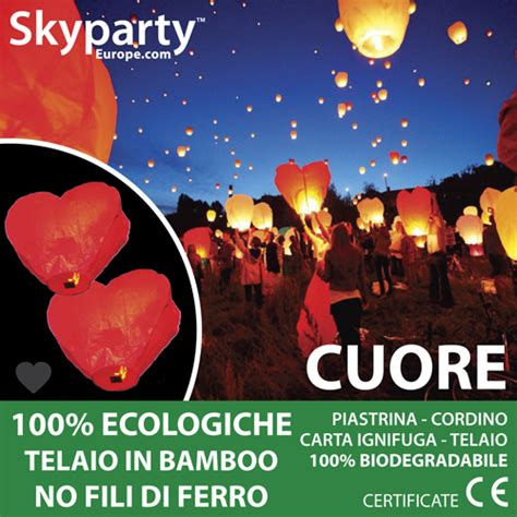 candele cinesi volanti lanterne volanti cuore