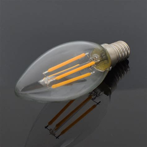 filament light bulb chandelier e12 e14 4 8w filament led light candle bulb chandelier