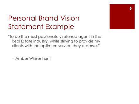 personal brand statement template create a personal brand vision statement