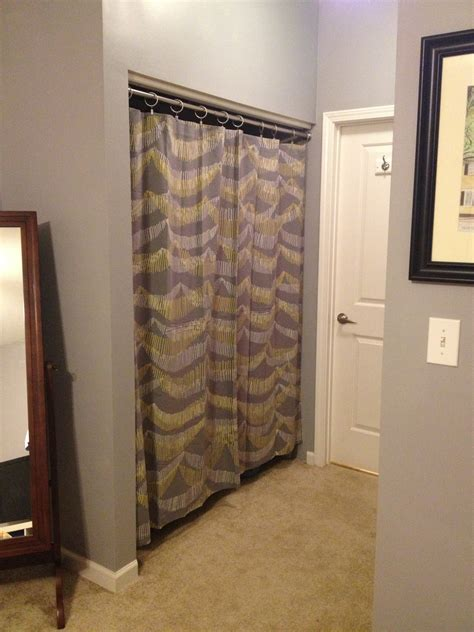 curtain closets changing closet doors to curtains archives charleston