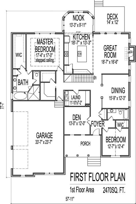One Story House Plans With Basement | house plans with basements one story inspirational