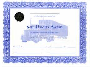 safe driving certificate template safe driver award certificates