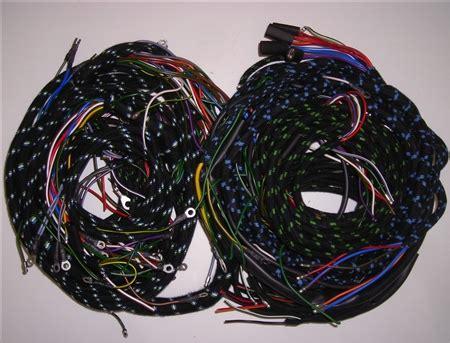wiring harness set  early jaguar xk  manual trans