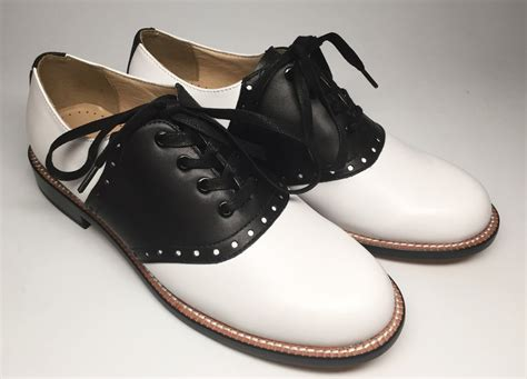 womens leather saddle oxford shoes saddle oxford re mix vintage shoes