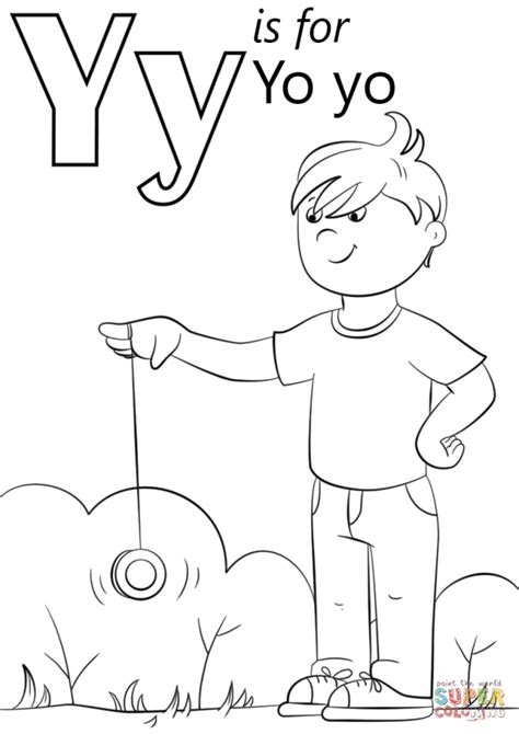 Letter Y Coloring Page by Get This Letter Y Coloring Pages Yo Yo 3ab3l