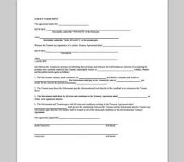 subletting contract template lease sublet agreement form sle forms