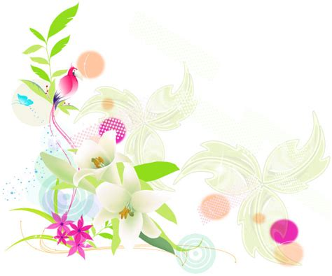 Floral Design by Vector Colorful Floral Design Free Vector