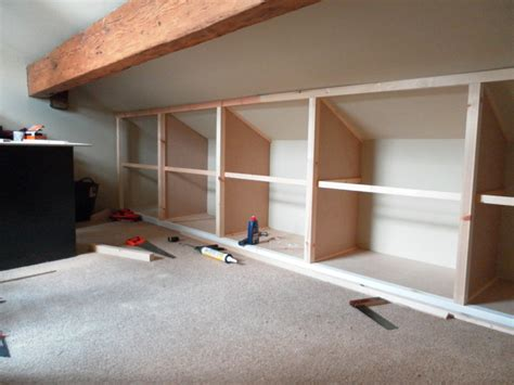 Bedroom Eaves Storage Installing Shelving In Attic Bedroom Search