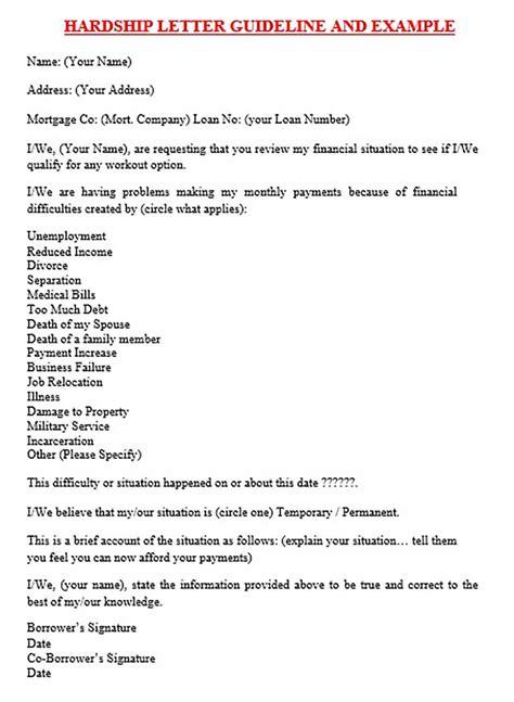 financial hardship letters impressive