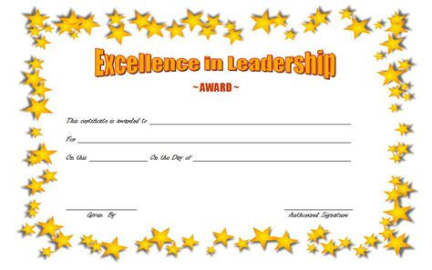 certificate of leadership template leadership award certificate template 6 the best