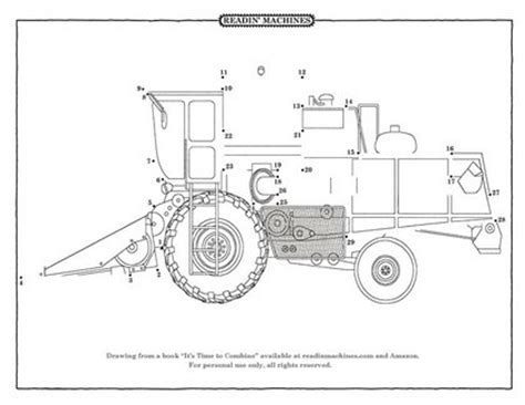 printable dot to dot tractor readin machines coloring pages www