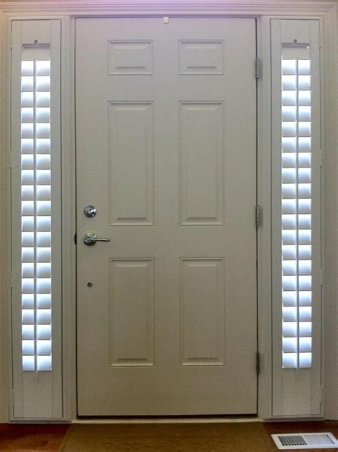 Entry Door With Two Side Lights Shutters Stay Nice And Front Door Side Window Shades