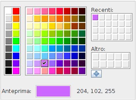 tavola dei colori primari matematica e didattica gestione dei colori con geogebra